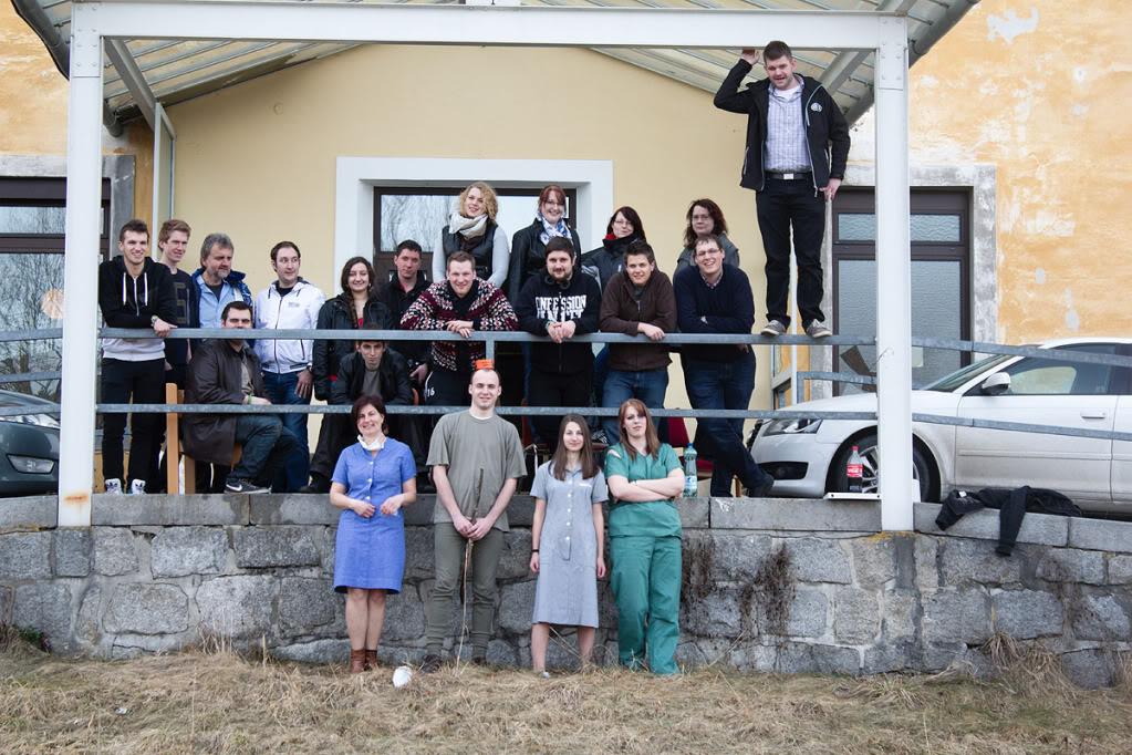 Gruppenfoto Fotoshooting Altes Krankenhaus Freistadt